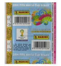 Panini WM Brasil 2014 Tüte Weiß - Rückseite