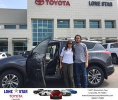 Congratulations Maria on your #Toyota #RAV4 Hybrid from Paco Garcia at Lone Star Toyota of Lewisville!  https://deliverymaxx.com/DealerReviews.aspx?DealerCode=E208  #LoneStarToyotaofLewisville