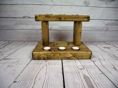 Wooden candle holder Set of six wooden by MDBespokecreations