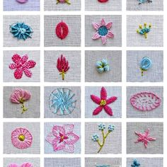 Flower embroidery tutorial stitch book, botanical embroidery, modern flower wreath embroidery pattern, learn embroidery, beginner embroidery learn how to embroider 24 flowers Hardanger Embroidery, Learn Embroidery, Hand Embroidery Stitches, Embroidery For Beginners, Silk Ribbon Embroidery, Hand Embroidery Designs, Embroidery Kits, Embroidery Techniques, Cross Stitch Embroidery