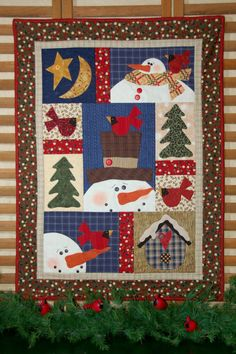 Pattern  Snowman Feathered Friends by Kalico by PrimitiveQuilting, $8.50...on etsy.com