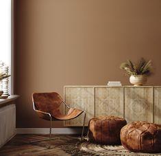 Brown Paint Walls, Brown Bedroom Walls, Brown Bedroom Colors, Light Brown Bedrooms, Bedroom Wall Colors, Living Room Paint, Living Room Colors, Brown Room Decor, Warm Paint Colors