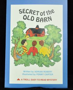 Secret of the Old Barn (A Troll Easy to Read Mystery) Paperback by Adrian Robert. These audio books belonged to a teacher; her name maybe on the front cover or on the inside cover of the book, and some were indexed like a library book.