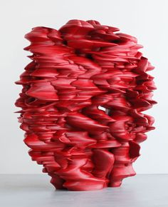 Red Tony Cragg Sculpture