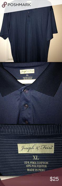 Shop Men's Joseph & Feiss Blue size XL Polos at a discounted price at Poshmark. Striped Polo Shirt, Joseph, Men Sweater, Man Shop, Best Deals, Sweaters, Closet, Blue, Shirts