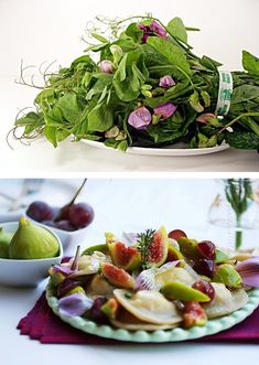 Edible flowers, when you have plant a lot of peas you can also eat the sprouts and flowers.