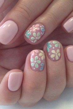 Flower Nail Designs, Flower Nail Art, Colorful Nail Designs, Pedicure Designs, Beachy Nail Designs, Nail Designs For Kids, Cute Summer Nail Designs, Cute Nail Art Designs, Nagellack Design