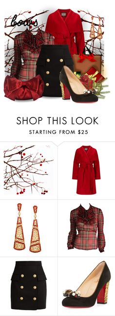 """Put a bow on it"" by interesting-times ❤ liked on Polyvore featuring Phase Eight, Betsey Johnson, Balmain, Christian Louboutin, Judith Leiber and bows"