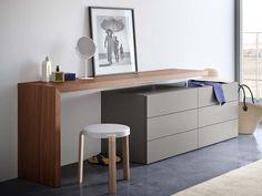 Pianca - Domino Vanity/Desk and People Dresser Home Decor Furniture, Furniture Design, Luxury Furniture, Tv Unit Decor, Vanity Desk, Home Room Design, House Design, Luxury Decor, Dream Decor