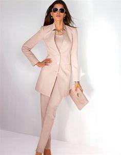 Frock coat, Trousers, Slingback heels, Bag, Necklace, Bracelet