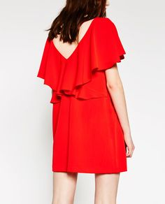 Image 5 of DRESS WITH BACK FRILL from Zara
