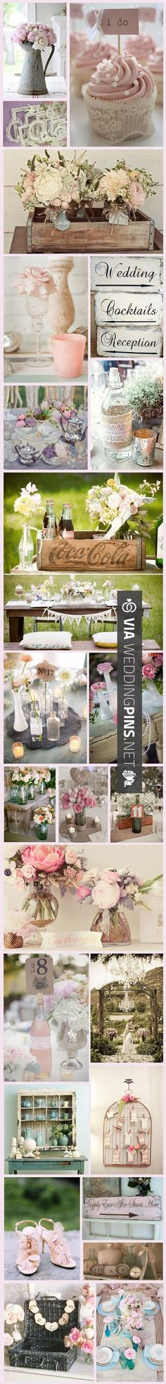 Cool - shabby chic wedding :)   CHECK OUT MORE IDEAS AT WEDDINGPINS.NET  