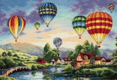 Gold Collection Balloon Glow Counted Cross Stitch Kit #35213 by DIMENSIONS