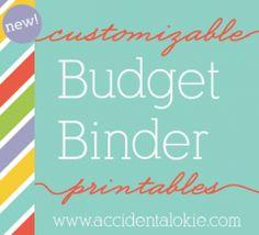 Customizable Budget Binder | Accidental Okie