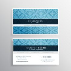 Moderna tarjeta de visita con un patrón Vector Gratis