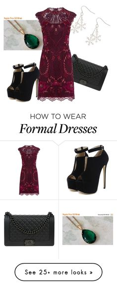 """""""Formal Holiday"""" by serinityway on Polyvore featuring Chanel, Karen Millen and WithChic"""