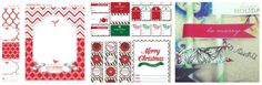 Christmas party printables {free}