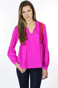 colorblocked blouse