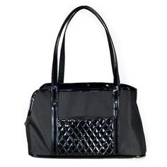 Black with Black Quilted Ella Carrier