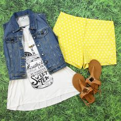 Shop our NEW Southern Girls Graphic Tank Top in Ivory! $17 + FREE SHIPPING ALWAYS!