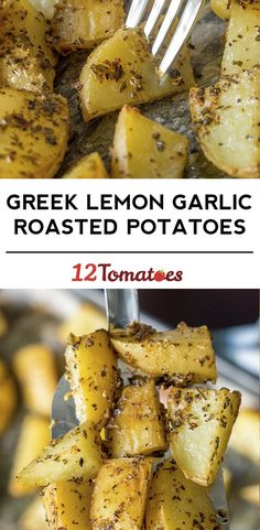 Greek Lemon Garlic Roasted Potatoes