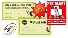 Your search for the perfect Pet Safety/ Rescue Kit is finally over. When you BUY TODAY you have taken a big step towards your PETS SAFETY. You can't always be home right? And you can't always take t...