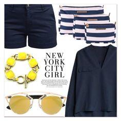 """""""New York Look"""" by lucky-1990 ❤ liked on Polyvore featuring Barbour and Christian Dior"""