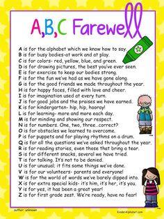 End of the Year Ideas - Kinder Alphabet
