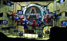 Hamleys toy store in Regent Street, London requested a dynamic window display to mark the launch of the new Armouron toy line. The handcrafted display was designed, constructed and installed by the Cod Steaks team #hamleys #armouron