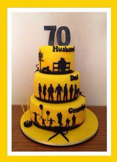 Bolo Homem Marido Pai Avo Birtday Cake 90th Birthday Cakes 70
