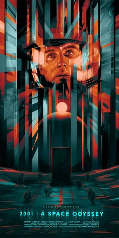 2001 A Space Odyssey poster by Jordan Buckner Best Movie Posters, Cinema Posters, Movie Poster Art, Cool Posters, Tv Movie, Sci Fi Movies, Cult Movies, Film Poster Design, Poster Designs