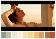 Cinema Palettes: Color palettes from famous movies - Titanic Movie Color Palette, Colour Pallette, Color Palate, Colour Schemes, Tag Art, Cinema Colours, Por Tras Das Cameras, Orange Color Palettes, Color Script