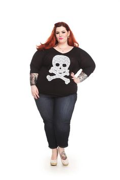 I own this top!! Can't wait to wear it!! Tess Munster wearing Torrid