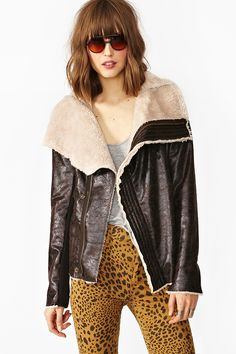 Draped Aviator Jacket