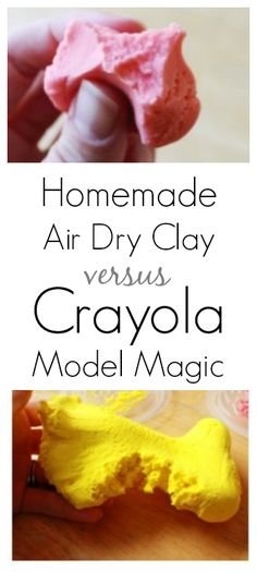 A comparison of the pros and cons of homemade model magic (with recipe!) and Crayola Model Magic. Both are good kids' modeling materials for different reasons and purposes.