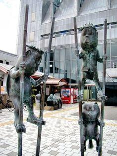 IMAGES OF MIZUKI SHIGERU ROAD | Yokai found along the Mizuki Shigeru Road in Sakaiminato