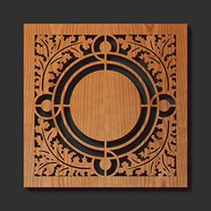 Decorative Trivets | Decorative Frank Lloyd Wright Laser Cut Wood Trivets