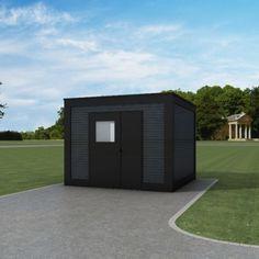 Genua redskabsrum Cubic 9,9 m² Bauhaus, Facade, Garage Doors, Outdoor Decor, Home Decor, Storage Sheds, Genoa, Decoration Home, Room Decor