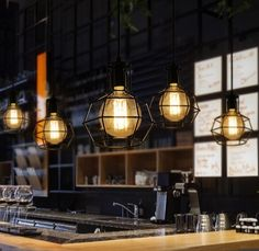 56.00$  Watch now - http://alikbd.worldwells.pw/go.php?t=32484808508 - Nordic Loft Style Edison Droplight Industrial Vintage Pendant Lamp Fixtures For Dining Room Bar Hanging Light Indoor Lighting 56.00$