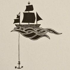 olas bajo el barco