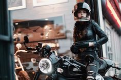 RankXerox — imogenocide✨✨Pulling up at . Ducati Cafe Racer, Ducati Scrambler, Cafe Racer Motorcycle, Motorcycle Style, Biker Style, Motorcycle Girls, Motorcycle Gear, Style Cafe Racer, Cafe Racer Girl