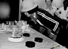 A picture of Michael Jackson at Studio 54 celebrating his 20th birthday