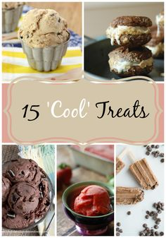 15 'Cool' Treats- Ready to cool off Try one of these 15 amazing frozen treats- chocolate, banana, watermelon- YUM! Ice Cream Desserts, Frozen Desserts, Frozen Treats, Fun Desserts, Delicious Desserts, Yummy Food, Tasty, Best Dessert Recipes, Sweet Recipes