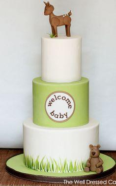 Cool, simple, modern baby cake.