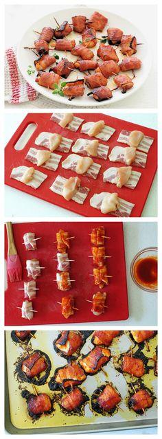 Honey Sriracha Chicken Bacon Bites