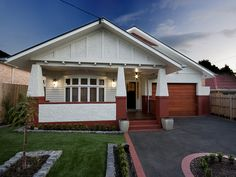Californian Bungalow - one of my favourite styles of house at the moment, I love shape of the pillars at the front and the double fronted versions are fabulous.