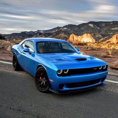 Dodge Challenger SRT Hellcat in Blue Pearl 4 Door Sports Cars, Dodge Challenger Srt Hellcat, Dodge City, Classic Car Restoration, Nissan Gt, Dodge Charger, Color Azul, Hot Cars, Luxury Cars