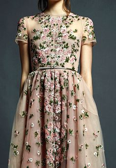 Floral on tulle. Valentino Pre-Spring 2013 so pretty