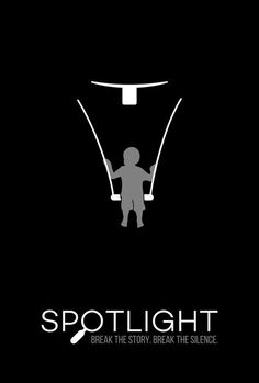 Spotlight (2015) ~ Minimal Movie Poster by Bart Wesolek ~ Oscars 2016 Nominees #amusementphile