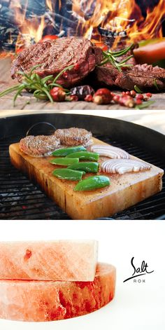 Add even more flavor to your food by cooking on a Salt Rox Block